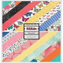 """American Crafts Vicki Boutin All The Good Things 12""""x12"""" Paper Pad 24 Sheets 343886"""