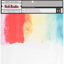 """American Crafts Vicki Boutin All The Good Things 12""""x12"""" White Foundations Mixed Media Art Paper 343917"""