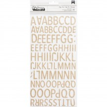 Crate Paper Good Vibes White & Gold Glitter Foam Letter Thickers 344315