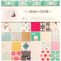 "Crate Paper Snow and Cocoa 12""x12"" Christmas Paper Pad 344324"
