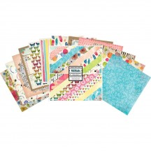 """American Crafts Vicki Boutin Field Notes 12""""x12"""" Paper Pad 24 Sheets 346537"""