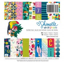 """American Crafts Shimelle Box Of Crayons 6""""x6"""" Paper Pad 346608 36 Sheets"""