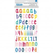 American Crafts Shimelle Box Of Crayons Chipboard Letter Thickers 346610