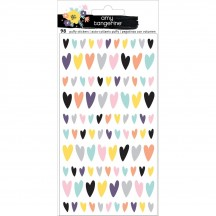 American Crafts Amy Tangerine Shine On Puffy Heart Stickers 348255