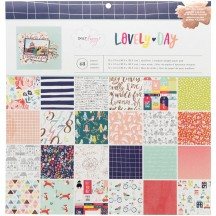 "American Crafts Dear Lizzy Lovely Day 12""x12"" Paper Pad 48 Sheets 376969"