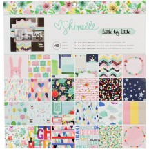 "American Crafts Shimelle Little By Little 12""x12"" Paper Pad 48 Sheets 378353"