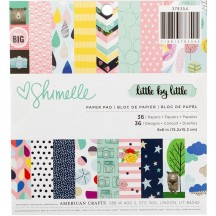 "American Crafts Shimelle Little By Little 6""x6"" Paper Pad 378354 36 Sheets"