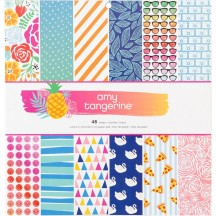 "American Crafts Amy Tangerine On a Whim 12""x12"" Paper Pad 48 Sheets 378743"