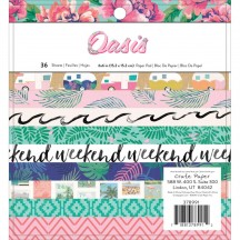 """Crate Paper Oasis 6""""x6"""" Paper Pad 36 Sheets 378991"""