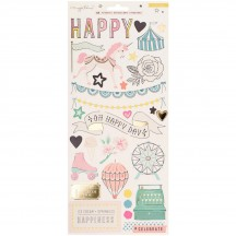 """Crate Paper Maggie Holmes Carousel 6""""x12"""" Accent Cardstock Stickers 379120"""