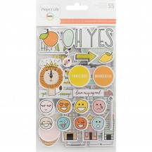 Becky Higgins Project Life Project 52 Rad Chipboard Sticker Embellishments 380086