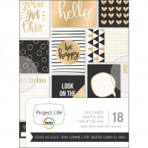 "Becky Higgins Project Life Good As Gold 3""x4"" Card Pad 380091"
