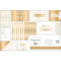 """Becky Higgins Project Life Gold & Bold 4""""x6"""" Card Pad 380093"""