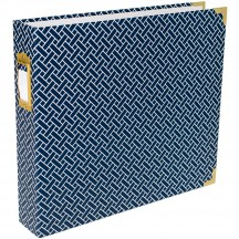 "Becky Higgins Project Life Navy Weave D-Ring 12""x12"" Scrapbooking Album 380563"