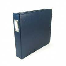"We R Memory Keepers Navy D-Ring 12""x12"" Faux Leather Album & Accessories 660918"