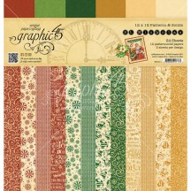 "Graphic 45 St Nicholas Patterns & Solids Christmas 12""x12"" Paper Pad 24 sheets 4501411"