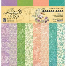 "Graphic 45 Fairie Dust Patterns & Solids 12""x12"" Paper Pad 16 sheets 4501642"