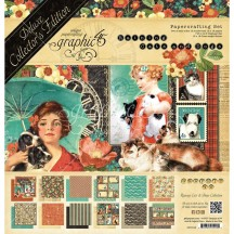 Graphic 45 Papercrafting Raining Cats And Dogs Deluxe Collectors Edition Pack 4501648