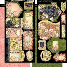 Graphic 45 Floral Shoppe Double-Sided Cardstock Tags and Pockets 4501699