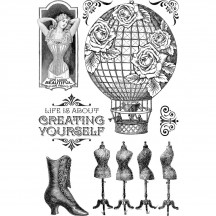 Graphic 45 Imagine - Create Yourself Clear Stamp Set 4501707