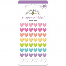 Doodlebug Fairy Tales Rainbow Hearts Shape Sprinkles Enamel Shapes 5550
