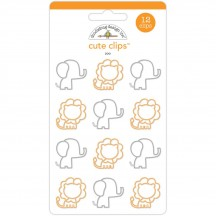 Doodlebug At the Zoo Elephant & Lion Cute Paper Clips 5595