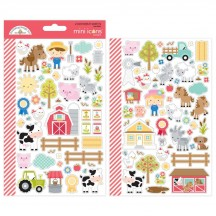 Doodlebug Down On The Farm Mini Icons Cardstock Stickers 5914