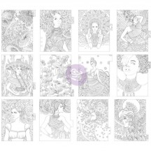 My Prima Planner Colouring Tabbed Dividers - Princesses 592806