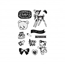 Prima Marketing Heaven Sent Part 2 Cling Rubber Stamp Set 595388