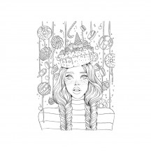 Prima Marketing Prima Princess Sweet Tooth Cling Rubber Stamp 595852