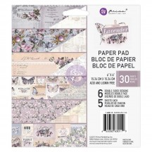 "Prima Marketing Lavender 6""x6"" Double-Sided Paper Pad 30 sheets 630119"