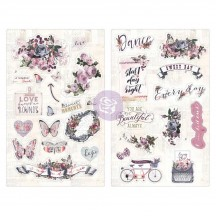 Prima Marketing Lavender Self Adhesive Chipboard Accent Shape Stickers 630140