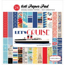 "Carta Bella Let's Cruise 6""x6"" Double-Sided Paper Pad CBLC65015"