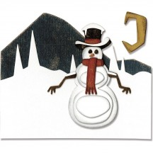 Sizzix Snowman Scene Tim Holtz Alterations Thinlits Christmas Cutting Dies 662422
