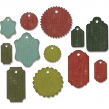 Sizzix Gift Tags Tim Holtz Alterations Thinlits Cutting Dies 662423