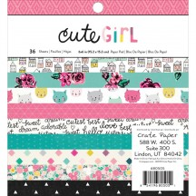 "Crate Paper Cute Girl 6""x6"" Paper Pad 36 Sheets 680505"