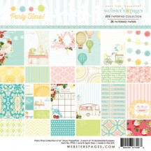 """Webster's Pages Party Time! 6""""x6"""" Double Sided Paper Collection PP22"""