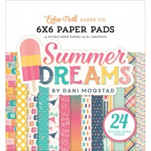 "Echo Park Summer Dreams 6""x6"" Double-Sided Paper Pad 24 Sheets DR126023"