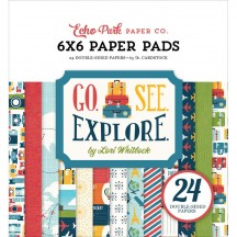 "Echo Park Go See Explore 6""x6"" Double-Sided Paper Pad 24 Sheets GSE127023"