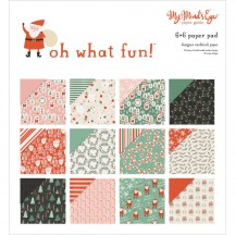 "My Mind's Eye Oh What Fun 6""x6"" Double-Sided Christmas Paper Pad FNC109"