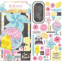 Bo Bunny Summer Mood Noteworthy Die-Cut Journaling & Accents Cardstock 7310046