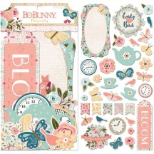 Bo Bunny Early Bird Noteworthy Die-Cut Journaling & Accents Cardstock 7310078