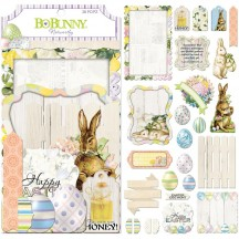 Bo Bunny Cottontail Noteworthy Die-Cut Journaling & Accents Cardstock 7310109