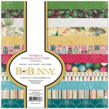 """Bo Bunny Christmas In The Village 6""""x6"""" Paper Pad 7310308"""