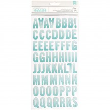 Pebbles Sunshiny Days Printed Chipboard Letter Thickers 733607