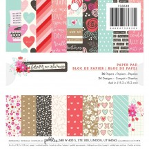 "Pebbles Forever My Always 6""x6"" Valentine Paper Pad 733638"