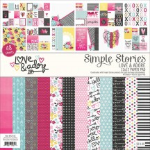 "Simple Stories Love & Adore 12""x12"" Paper Pad 7618"