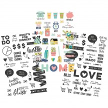 Simple Stories Domestic Bliss Clear Stickers 7818