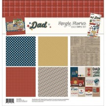 """Simple Stories Dad 12""""x12"""" Simple Sets Collection Kit 7845"""