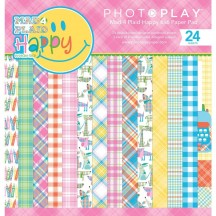 "Photoplay Mad 4 Plaid Happy 6""x6"" Double-Sided Paper Pad MPH8856"